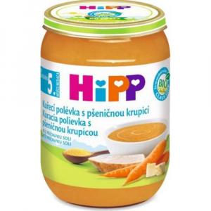 HiPP BIO Polévka Kuřecí s pšeničnou krupicí 190 g