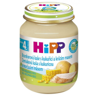 HiPP BIO Bramborové pyré s kukuřicí a krůtím 125 g