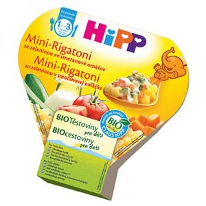HiPP BIO Mini-Rigatoni se zeleninou ve smetanové omáčce 250 g