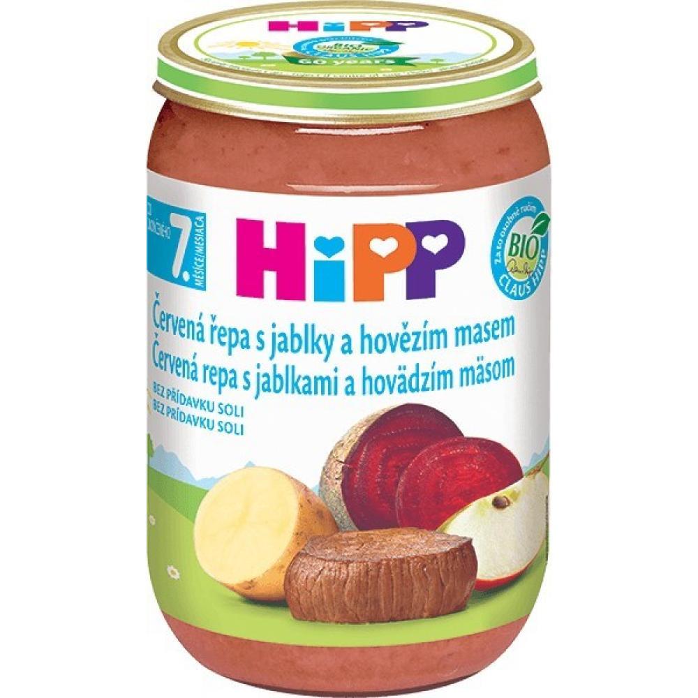 HiPP JUNIOR BIO Červená řepa s jablky a hovězím masem 220 g