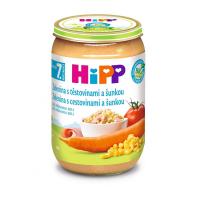 HiPP BIO Zelenina s těstovinami a šunkou 220 g