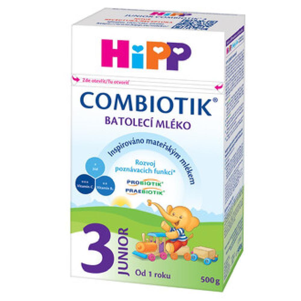 HiPP 3 JUNIOR Combiotik Pokračovací batolecí mléko od 12 - 24 měsíců 500 g