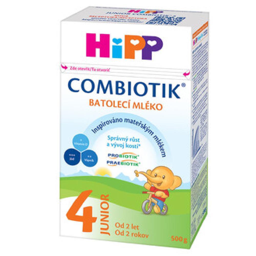 HiPP 4 Junior Combiotik Pokračovací batolecí mléko od 24.měsíců 500 g