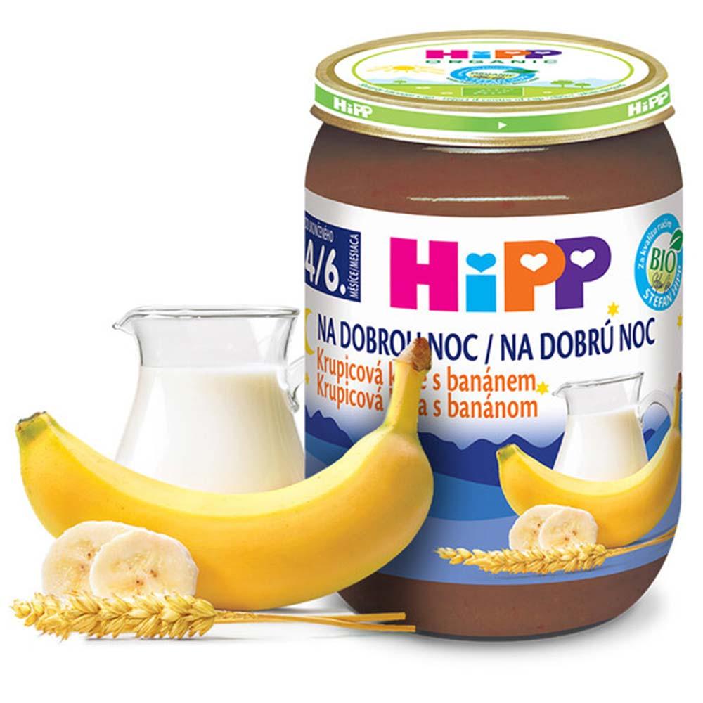 HiPP Na dobrou noc Krupicová kaše s banánem BIO 190 g