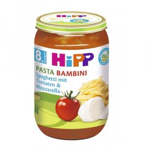 HiPP Pasta Bambini Rajčata se špagetami a mozzarellou 220 g