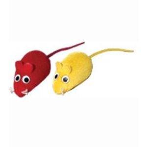 TOMMI Hračka kočka Myš semiš mix barev 6 cm 60 kusů