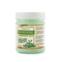 HRISTINA Přírodní vlasová maska pro poškozené vlasy - kopřiva, ořech, lopuch 200 ml