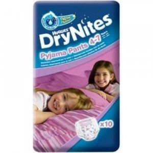 HUGGIES DRY NITES kalhotky abs. 4 - 7 let/M/girls/17 - 30 kg/10 ks