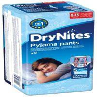HUGGIES DRY NITES kalhotky absorpční 8-15 let L/boys/25 - 57 kg/9 ks