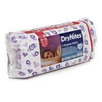 HUGGIES DRY NITES kalhotky  absorpční 8 - 15 / L / girls / 25 - 57 kg / 9 ks