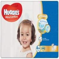 HUGGIES Ultra Comfort Jumbo vel.4+ 10-16kg  46 ks