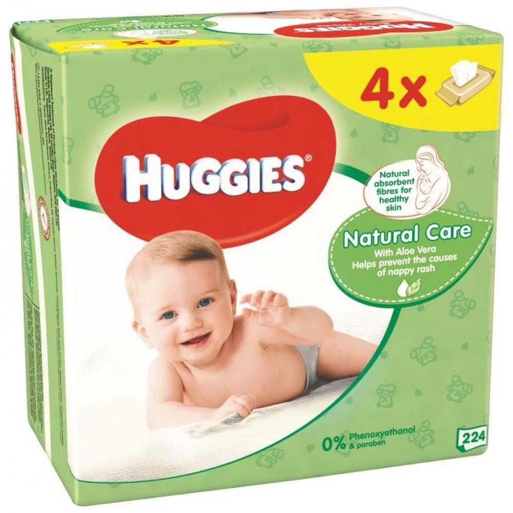 Huggies wipes quad (4x64) aloe (natural)
