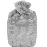 HUGO FROSCH Classic termofor s obalem z umělé kožešiny s podšívkou šedý 1,8 l