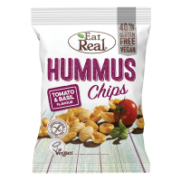 EAT REAL Hummus Chips rajče a bazalka 135 g BEZ lepku