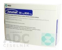 JANUMET 50 MG/850 MG  196X50MG/850MG Potahované tablety