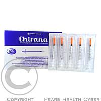 CHIRANA U100 Injekční stříkačka ins. 0,33x12-13 1 ml 100 kusů