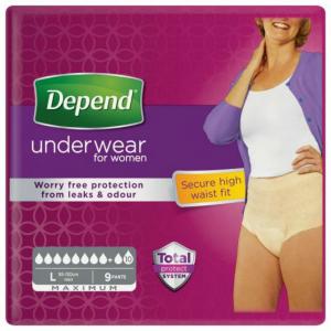 DEPEND Maximum inkontinenční kalhotky vel.L 9 ks