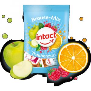 INTACT sáček šumivé pastilky BRAUSE-MIX s vitamínem C 75 g