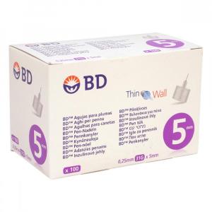 BECTON DICKINSON Inzulinové jehly BD 0.25x5mm (31G) 100ks