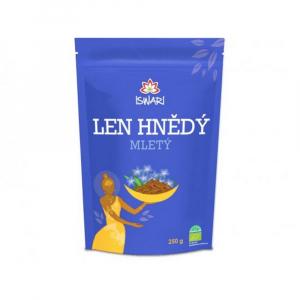 ISWARI Len hnědý Mleté semínko BIO 250 g