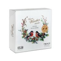 JAFTEA Box warm winter wishes tea & coffee černý čaj a zrnková káva 80 g