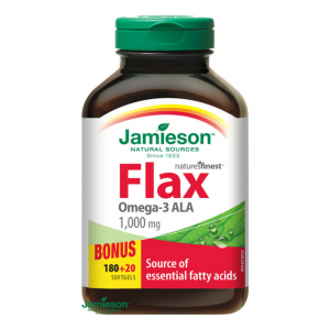JAMIESON Flax Omega-3 1000mg lněný olej 200 kapslí