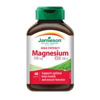 JAMIESON Hořčík 500mg s vitaminem D 500 IU 60 tablet
