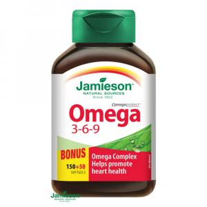 JAMIESON Omega 3-6-9 1200mg 150+50 kapslí