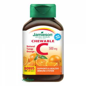 JAMIESON Vitamín C 500mg pomeranč 120 cucacích tablet