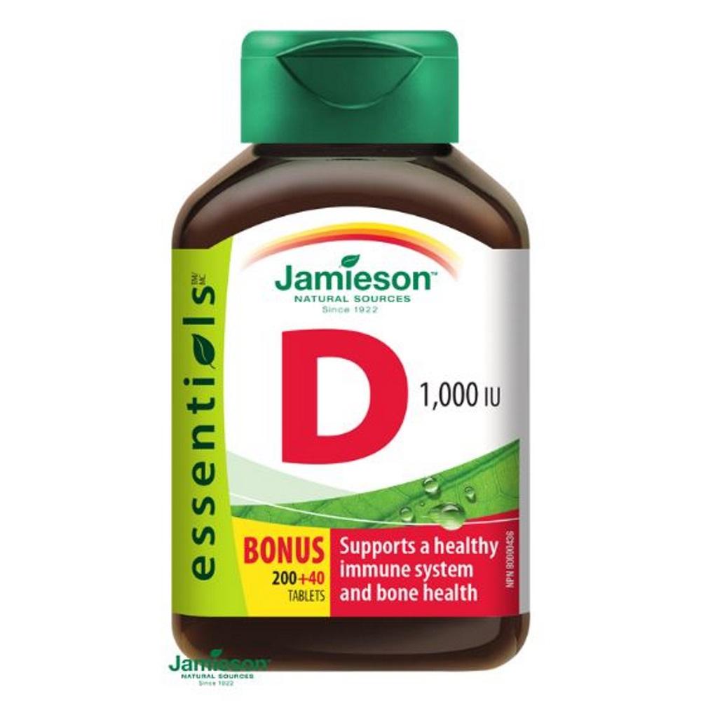 JAMIESON Vitamín D3 1000IU 240 tablet, poškozený obal