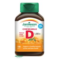 JAMIESON Vitamín D3 1000IU pomeranč cucací 100 tablet