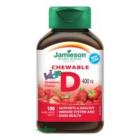 JAMIESON Vitamín D3 Kids jahoda cucací 100 tablet