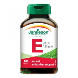 JAMIESON Vitamín E 200 IU 100 kapslí