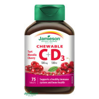 JAMIESON Vitamíny C a D3 třešeň cucací 75 tablet