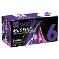 Jehly WELLION MEDFINE PLUS 31Gx6mm 100ks inzulinová pera