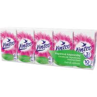 LINTEO Satin Papírové kapesníky 3-vrstvé 10x10 ks