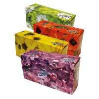 LINTEO Papírové kapesníky dvouvrstvé v boxu 150 kusů