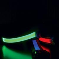 KARLIE FLAMINGO LED nylonové vodítko pro psy s USB nabíjením zelené 120 cm
