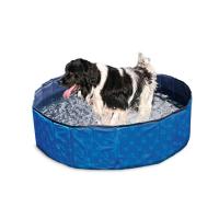 KARLIE FLAMINGO Skládací bazén pro psy modro-černý 80x20 cm