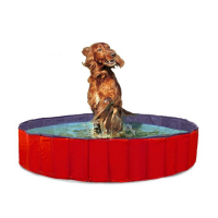 KARLIE FLAMINGO Skládací bazén pro psy modro-červený 120x30 cm
