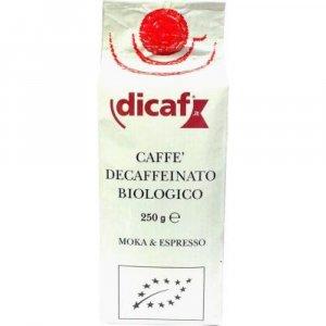 DICAF Káva mletá bez kofeinu 250g-BIO
