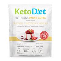 KETODIET Proteinová panna cotta s příchutí smetany a vanilky 7 porcí