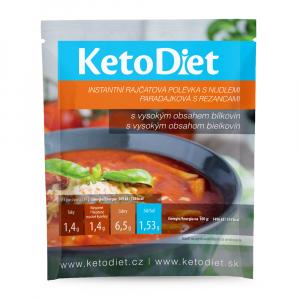 KETODIET Proteinová polévka Rajčatová s nudlemi 7 porcí