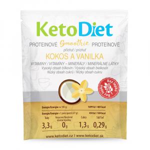 KETODIET Proteinové smoothie příchuť kokos a vanilka 7 porcí