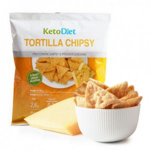 KETODIET Proteinové Tortilla chipsy s příchutí chedaru 25 g