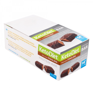KETODIET Proteinové tyčinky příchuť čokoláda 14 kusů