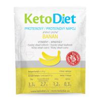 KETODIET Proteinový nápoj příchuť banán 7 porcí
