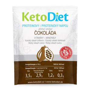 KETODIET Proteinový nápoj příchuť čokoláda 7 porcí