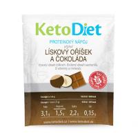 KETODIET Proteinový nápoj s příchutí lískový oříšek a čokoláda 7 porcí