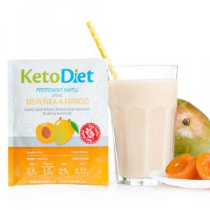 KETODIET Proteinový nápoj s příchutí meruňka a mango 7 porcí